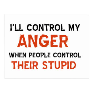 Anger management designs postcard