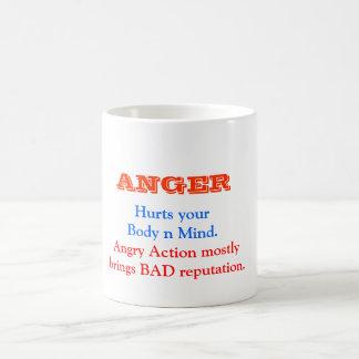 ANGER Management Basic White Mug