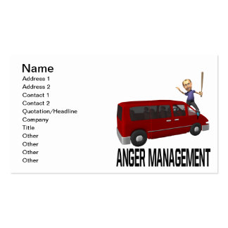 Anger Management Pack Of Standard Business Cards