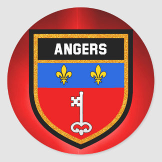 Angers Flag Classic Round Sticker