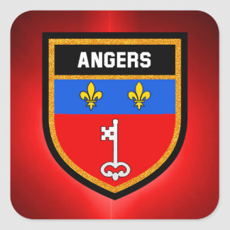 Angers Flag Square Sticker