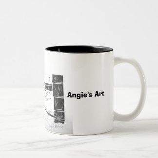 "Angie's Art ""hound dog"" Mug"