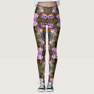 Angie's Pink Phlox Autumn Helenium Leggings