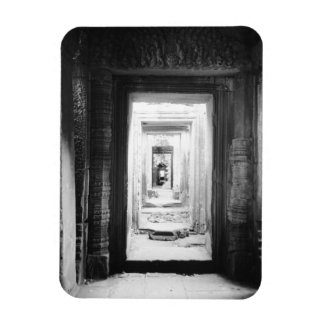 Angkor Cambodia, Doorways Preah Khan 2 Rectangular Photo Magnet