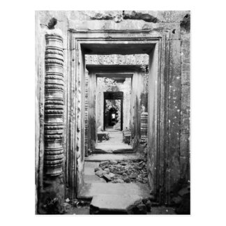 Angkor Cambodia, Doorways Preah Khan Postcard