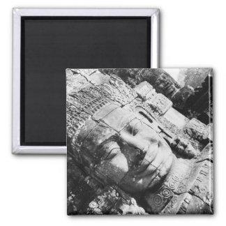 Angkor Cambodia, Head The Bayon Square Magnet