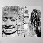 Angkor Cambodia, Heads The Bayon Poster