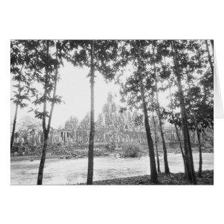 Angkor Cambodia, View of the Bayon Greeting Card