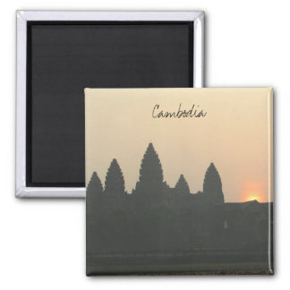 angkor sunrise cambodia square magnet