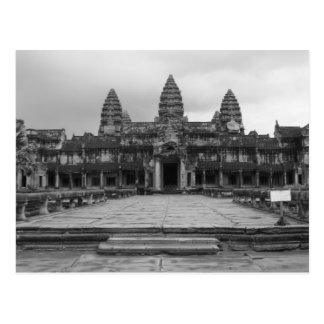 Angkor Wat B&W Postcard