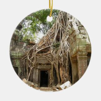 Angkor Wat Cambodia Round Ceramic Decoration