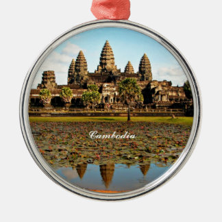 Angkor Wat, Cambodia Silver-Colored Round Decoration