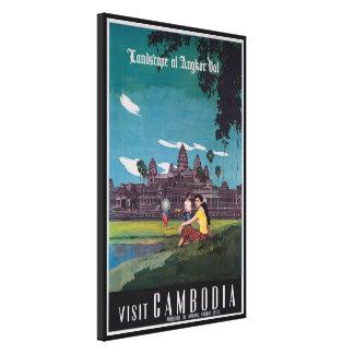 Angkor Wat Cambodia Vintage Travel Print