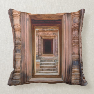 Angkor Wat Entryway, Cambodia Cushion