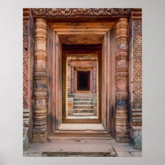 Angkor Wat Entryway, Cambodia Poster