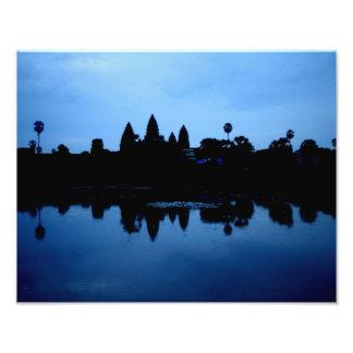 Angkor Wat Silhouette Print Photograph