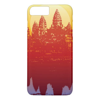 Angkor Wat Sunset Modern Silhouette Art Sunrise iPhone 7 Plus Case
