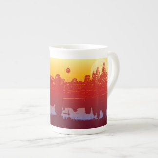 Angkor Wat Sunset Modern Silhouette Art Sunrise Tea Cup