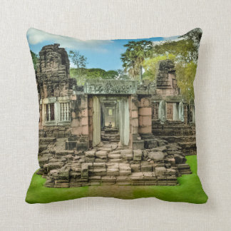 Angkor Wat temple Cambodia UNESCO Throw Pillow