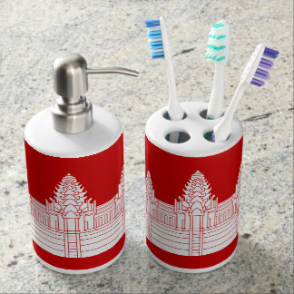 Angkor Wat Ver.2.0. Khmer Temple Soap Dispenser And Toothbrush Holder