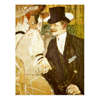 Anglais at Rouge by Toulouse-Lautrec Postcard