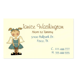 Angle Girl with Teddy Bear Mommy Card Pack Of Standard Business Cards