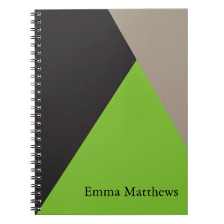 Angle on Color Modern Professional Personalized Notebook
