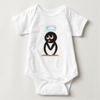 Angle-Penguin-(White) Baby Bodysuit