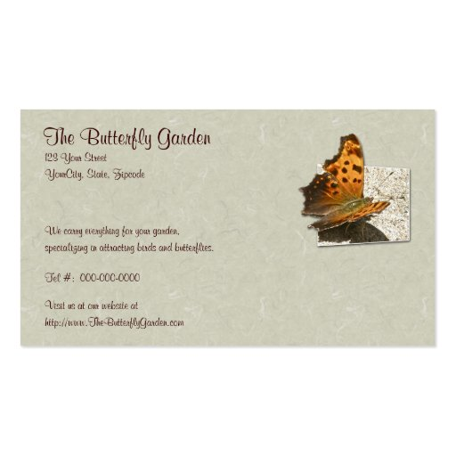Angle Wing Comma Butterfly Series Business Card Template