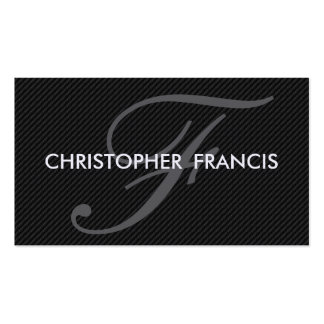 Angled carbon fiber appearance monogram cards pack of standard business cards