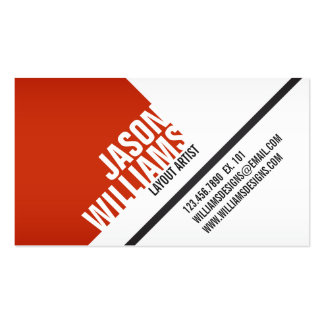 Angled Geometric Blocks - Style 1 Pack Of Standard Business Cards