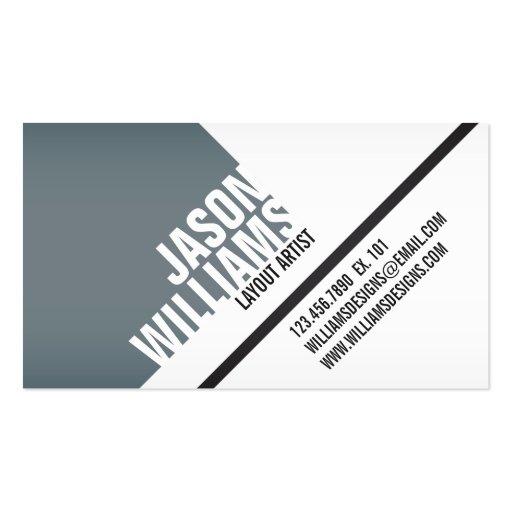 Angled Geometric Blocks - Style 2 Business Card Templates