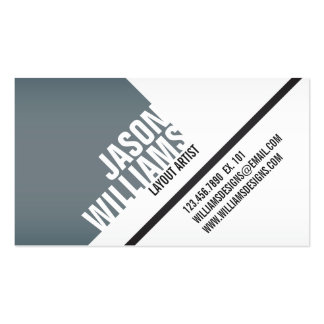 Angled Geometric Blocks - Style 2 Pack Of Standard Business Cards