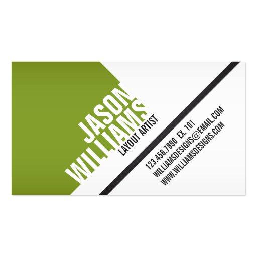 Angled Geometric Blocks - Style 3 Business Card