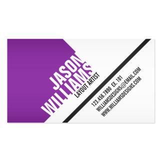 Angled Geometric Blocks - Style 5 Business Card Templates