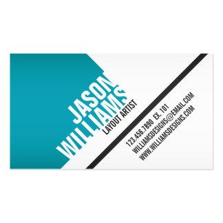 Angled Geometric Blocks - Style 6 Business Card Template