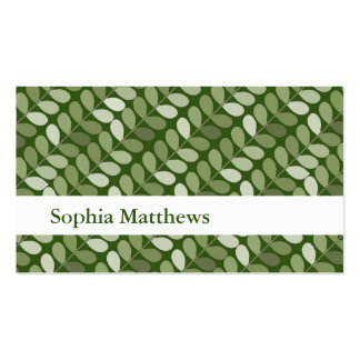 Angled Green Vines Pack Of Standard Business Cards