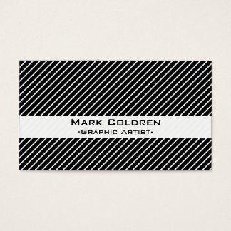Angled Pinstripes 45 (Black)