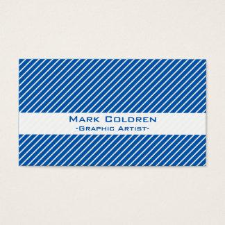 Angled Pinstripes 45 (Blue)