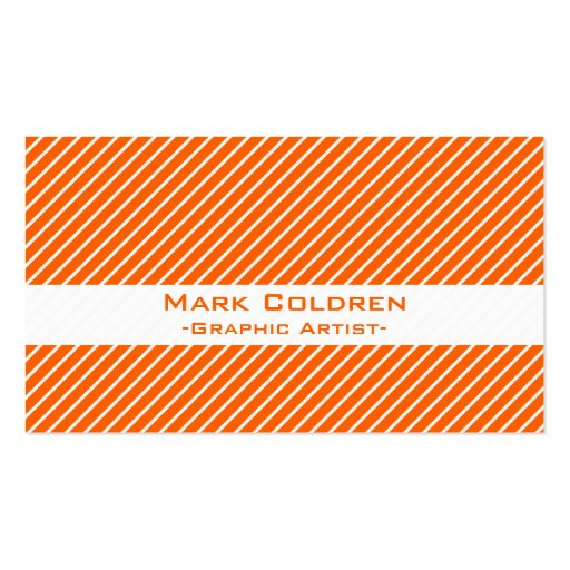 Angled Pinstripes 45 Business Card