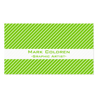 Angled Pinstripes 45 (Green) Pack Of Standard Business Cards