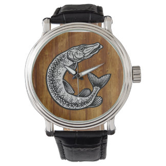 Angler clock watches