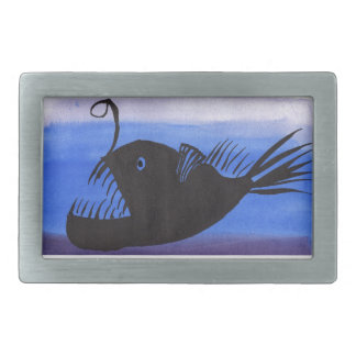 Angler Fish Silhouette Belt Buckles