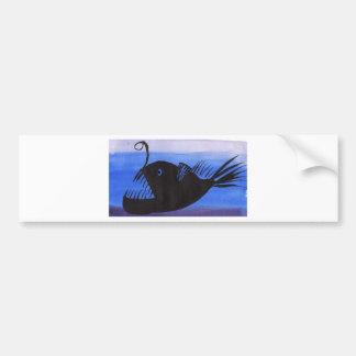 Angler Fish Silhouette Bumper Sticker