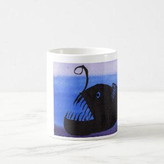Angler Fish Silhouette Coffee Mug