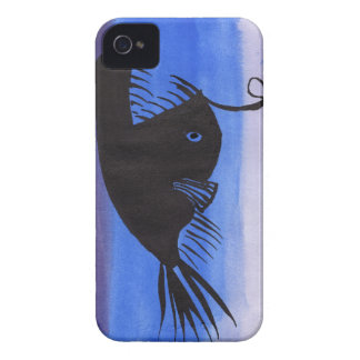 Angler Fish Silhouette iPhone 4 Cover
