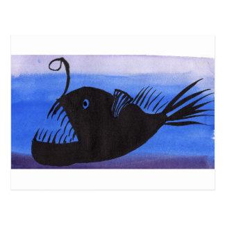 Angler Fish Silhouette Postcard