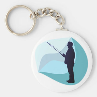 Angler Fisher Key Ring