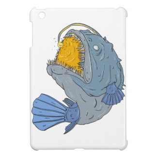 Anglerfish Swooping up Lure Drawing Case For The iPad Mini