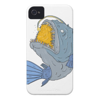 Anglerfish Swooping up Lure Drawing iPhone 4 Case-Mate Case